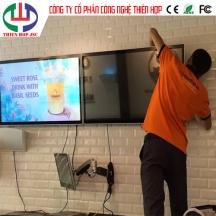 Màn Hình LCD cho chuỗi hệ thống Trà Sữa tại TP.HCM